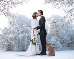 Winter wedding France